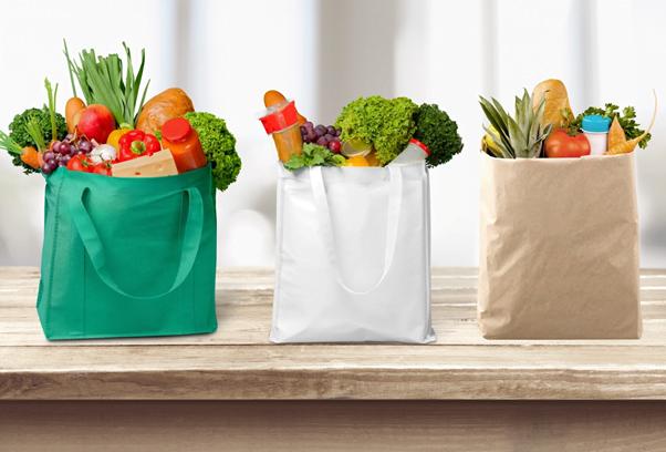 Grocery shopping: reusable bag